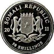 50 Shillings (Mother and baby elephant) -  obverse