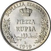 ½ Rupia - Vittorio Emanuele III – reverse