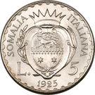 5 Lire - Vittorio Emanuelle III – reverse