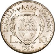 10 Lire - Vittorio Emanuele III – reverse