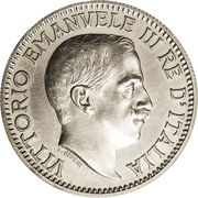 1 Rupia - Vittorio Emanuelle III – obverse