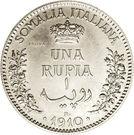1 Rupia - Vittorio Emanuelle III – reverse