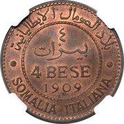 4 Bese - Vittorio Emanuele III – reverse