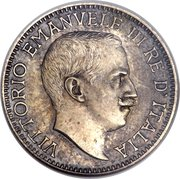 ½ Rupia - Vittorio Emanuele III (Trial Strike) – obverse