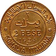 2 Bese - Vittorio Emanuele III – reverse