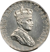 5 Lire - Vittorio Emanuelle III (Prova di stampa) – obverse