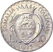 10 Lire - Vittorio Emanuelle III (Prova di stampa) – reverse