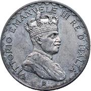 5 Lire - Vittorio Emanuelle III (Prova) – obverse