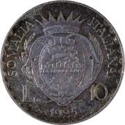 10 Lire - Vittorio Emanuelle III (Prova) – reverse