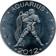 10 Shillings (Aquarius - empty leaves) – reverse