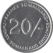 20 Shillings -  reverse