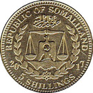 5 Shillings (Cercocebus Atys) – obverse