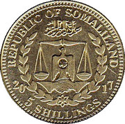 5 Shillings (Macaca Nemestrina) – obverse