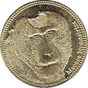 5 Shillings (Macaca Nemestrina) – reverse