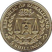 5 Shillings (Papio Anubis) – obverse