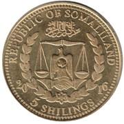5 Shillings (Felis Concolor) – obverse