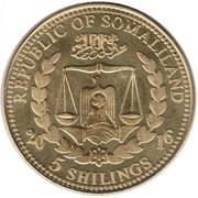 5 Shillings (Panthera Tigris) – obverse