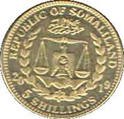 5 Shillings   (Beagle) – obverse
