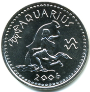 10 Shillings (Aquarius) – obverse