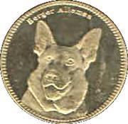 5 Shillings (German shepherd) – reverse