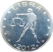 10 Shillings (Libra - empty leaves) – reverse