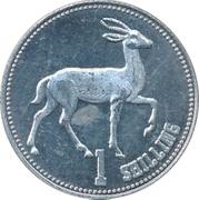 1 Shilling (Gazelle) – reverse