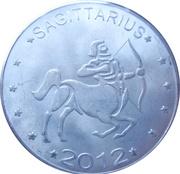 10 Shillings (Sagittarius - empty leaves) – reverse
