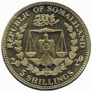 5 Shillings (Amazona Xanthops) – obverse