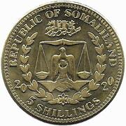 5 Shillings (Ara Rubrogenys) – obverse