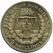 5 Shillings (Nymphicus Hollandicus) – obverse