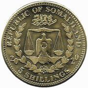 5 Shillings (Kakatoe Galerita) – obverse