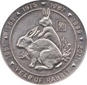 5 Dollars (Year of the Rabbit) – reverse