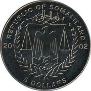 5 Dollars (Titanic) – obverse