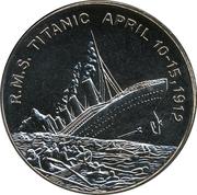 5 Dollars (Titanic) – reverse