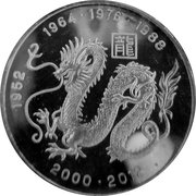15 Dollars (Year of the Dragon) – reverse
