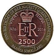 2500 Shillings (Elizabeth II 90th Anniversary - Queen of Nigeria) – obverse