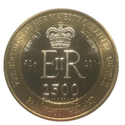 2500 Shillings (Elizabeth II 90th Anniversary -  Queen of the Bahamas) – obverse