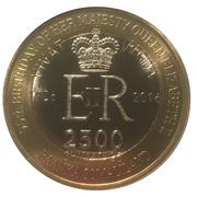2500 Shillings (Elizabeth II 90th Anniversary -  Queen of Belize) – obverse