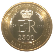 2500 Shillings (Elizabeth II 90th Anniversary -  Queen of New Zealand) – obverse