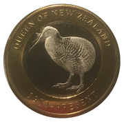 2500 Shillings (Elizabeth II 90th Anniversary -  Queen of New Zealand) – reverse