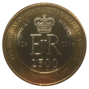 2500 Shillings (Elizabeth II 90th Anniversary -  Queen of Papua New Guinea) – obverse