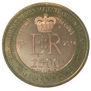 2500 Shillings (Elizabeth II 90th Anniversary -  Queen of Fiji) – obverse