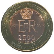 2500 Shillings (Elizabeth II 90th Anniversary -  Queen of Malta) – obverse