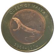 2500 Shillings (Elizabeth II 90th Anniversary -  Queen of Malta) – reverse