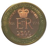 2500 Shillings (Elizabeth II 90th Anniversary -  Queen of Ceylon) – obverse