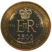 2500 Shillings (Elizabeth II 90th Anniversary -  Queen of Australia) – obverse