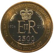 2500 Shillings (Elizabeth II 90th Anniversary -  Queen of Canada) – obverse