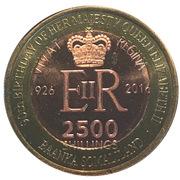 2500 Shillings (Elizabeth II 90th Anniversary -  Queen of Ghana) – obverse