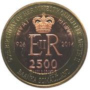 2500 Shillings (Elizabeth II 90th Anniversary -  Queen of Guyana) – obverse