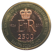 2500 Shillings (Elizabeth II 90th Anniversary -  Queen of Mauritius) – obverse